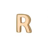 Кулон Викс буква Р, латинская R, красное золото