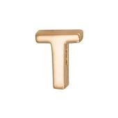 Кулон Викс буква Т, латинская T, красное золото