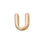 Кулон Викс буква Ю, У, латинская U, красное золото