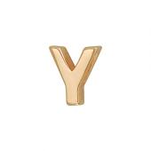 Кулон Викс буква У, латинская Y, красное золото