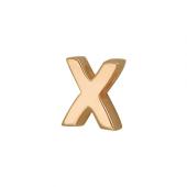 Кулон Викс буква Х, Икс, латинская X, красное золото