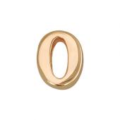 Кулон Викс цифра ноль 0, красное золото