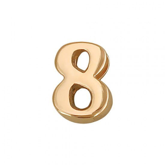 Кулон Викс цифра восемь 8, красное золото