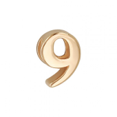 Кулон Викс цифра девять 9, красное золото