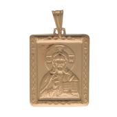 Господь Вседержитель в прямоугольном окладе, красное золото, высота 24 мм