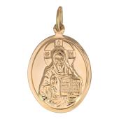 Господь Вседержитель в овальном окладе, красное золото, 2.0 см