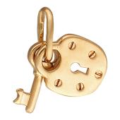 Кулон золотой Ключик с замком