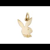Кулон Кролик с бабочкой, PlayBoy, красное золото