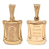 Почаевская с балдахином, красное золото высота 15 мм