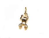 Кулон Лягушка, красное золото, 585 проба