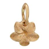Кулон Лилия с алмазной гранью, красное золото