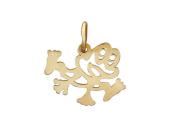 Кулон веселая Лягушка прыгает, красное золото, 585 проба