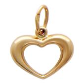 "Кулон контур ""Сердце"", красное золото"