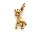 Кулон Жираф, красное золото