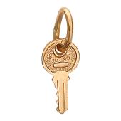 Кулон ключик как настоящий, красное золото 585 проба