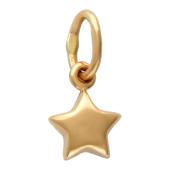 Кулон звезда с округлыми краями, красное золото