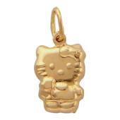 Кулон Hello Kitty, кошка в штанах, красное золото