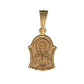 Ангел Хранитель в фигурном окладе, красное золото