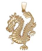 "Кулон ""китайский дракон"" красное золото"
