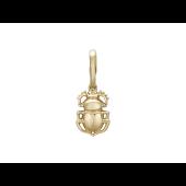 Кулон Жук - Скарабей золотой, красное золото, 585 проба