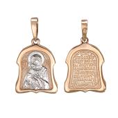Владимирская Икона Божьей Матери, красное золото