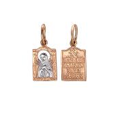 Икона Богородица Семистрельная Умягчение Злых Сердец, красное золото