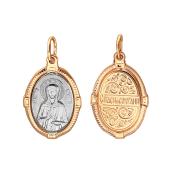 Матрона Святая в овальном окладе из красного золота