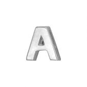 Кулон Викс буква А, латинская A, белое золото