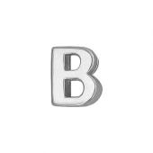 Кулон Викс буква В, латинская B, белое золото