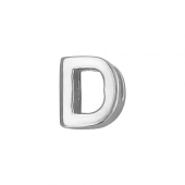Кулон Викс буква Д, латинская D, белое золото
