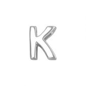 Кулон Викс буква К, латинская K, белое золото пробы 585