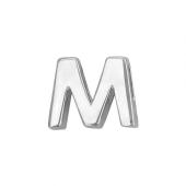 Кулон Викс буква М, латинская M, белое золото