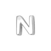 Кулон Викс буква Н, латинская N, белое золото