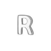 Кулон Викс буква Р, латинская R, белое золото