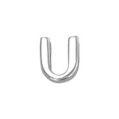 Кулон Викс буква У, Ю, латинская U, белое золото