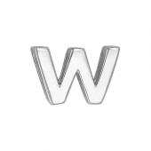 Кулон Викс буква В, латинская W, белое золото