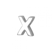 Кулон Викс буква Х, Икс, латинская X, белое золото