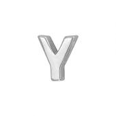 Кулон Викс буква У, латинская Y, белое золото