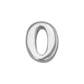 Кулон Викс цифра ноль 0, белое золото