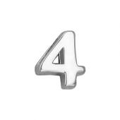 Кулон Викс цифра четыре 4, белое золото