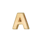 Кулон Викс буква А, латинская A, желтое золото