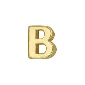 Кулон Викс буква В, латинская B, желтое золото