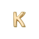 Кулон Викс буква К, латинская K, желтое золото