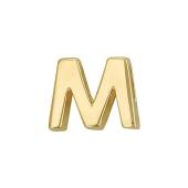 Кулон Викс буква М, латинская M, желтое золото