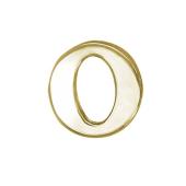 Кулон Викс буква О, латинская O, желтое золото