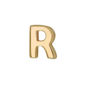 Кулон Викс буква Р, латинская R, желтое золото