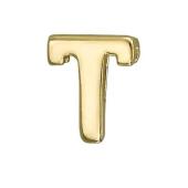 Кулон Викс буква Т, латинская T, желтое золото