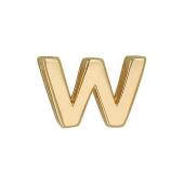 Кулон Викс буква В, латинская W, желтое золото