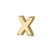 Кулон Викс буква Икс, Х, латинская X, желтое золото