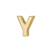 Кулон Викс буква У, латинская Y, желтое золото